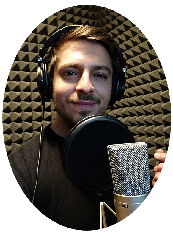 Headshot inside my studio booth professional slovenian voice over - slovenian voice over